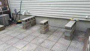 patio bench blocks foundation full blocks