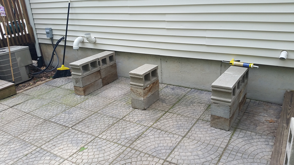 patio bench blocks foundation full blocks