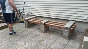 patio bench with cedar 4 x 4s