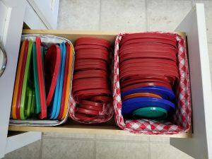DIY kitchen lid baskets