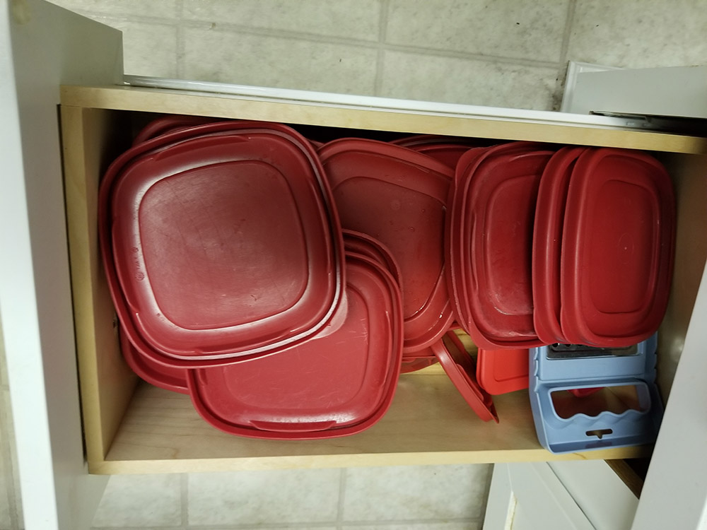 kitchen lid drawer