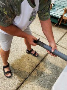 diy sandbar anchor auger fitting